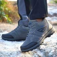 Mr.zuo2017秋冬新款加绒运动户外鞋耐磨防滑保暖男款徒步登山鞋