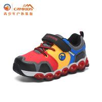 【618大促-每满100减50】CAMKIDS垦牧男童鞋小童登山鞋 2018春季新款儿童户外运动鞋缓震