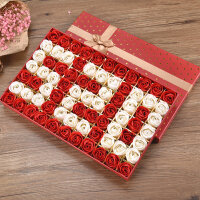 浪漫创意礼物玫瑰香皂花礼盒女友爱人情人节礼品生日礼品