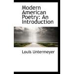【预订】Modern American Poetry: An Introduction