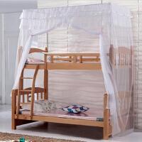 蚊帐可定做上下铺高低床双层床蚊帐学生一体方顶蚊帐