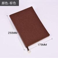 记事本软皮面A6A5手工加厚简约笔记本办公学习商务礼品定做LOGO 棕色B5 大号