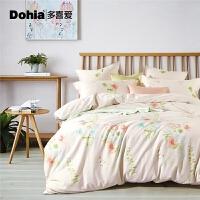 多喜爱家纺四件套纯棉床上用品全棉田园斜纹套件恬静时光