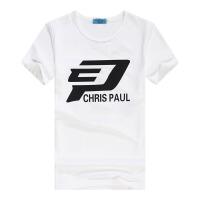 定制篮球球星纪念T恤 快船队篮球服3号保罗短T球迷版T恤