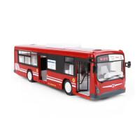 大号电动遥控公交车玩具仿真充电儿童公共汽车巴士大巴车模型车摸 红色大巴士 一键开门 三电一充