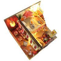 日式阁楼小屋樱花物语手工房子模型拼装礼物