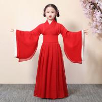 女童汉服中国风童装儿童古装襦裙超仙女古风小女孩唐装连衣裙抖音
