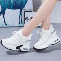 内增高女鞋坡跟小白鞋女夏季2018新款百搭韩版运动鞋女休闲跑步鞋