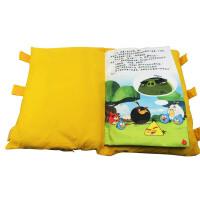枕头书系列:愤怒的小鸟-大战猪头魔王 0-3岁宝宝小枕头玩具书 中英双语对照亲子阅读0-3岁小孩枕头 3-6岁睡前故事