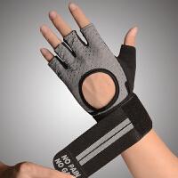 夏季健身手套男透气女运动手套防滑护腕哑铃器械训练半指薄款耐磨 护腕