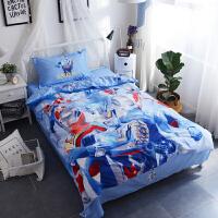 棉男孩人奥曼床单四件套棉儿童卡通被套三件套1.2m米床品 1.5m(被套200*230cm 床单245*2