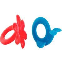 儿童节礼物 男孩牙胶婴儿硅胶软套装可水煮玩具0-6个月纳米银硅胶塑胶 牙胶玩偶套装-章鱼和鲸鱼