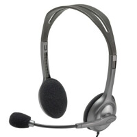 罗技(Logitech)H111 立体声耳机麦克风 黑色 H110升级版,现在是一个3.5mm的插孔哦
