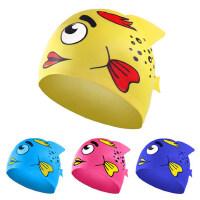 儿童防水硅胶泳帽 男女童通用长发舒适防晒护耳训练游泳帽