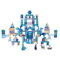 迪士尼冰雪奇缘宝宝女城堡玩具 儿童益智早教拼搭积木