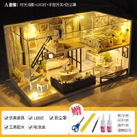 送妻子生日礼物diy小屋阁楼别墅手工制作小房子模型拼装中国风创意女生