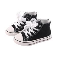 �和�帆布鞋高�湍型�休�e板鞋女童鞋�底����小白鞋