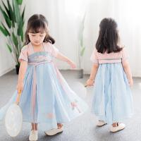 女童汉服连衣裙2018新款儿童名族风洋气公主裙小女孩夏季童装裙子