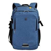 男女士.3寸双肩电脑包英寸14寸15.6寸s笔记本背包 蓝色(棉麻色) 14寸