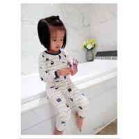 韩版秋冬儿童纯棉睡衣套装长袖男女宝宝可爱卡通加绒保暖内衣套装