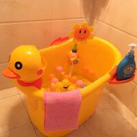 大号儿童洗澡桶宝宝浴桶塑料泡澡桶婴儿浴盆小孩沐浴桶可坐加厚