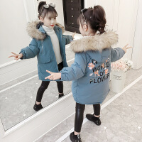 儿童棉衣2018新款冬季中长款洋气外套中大童棉袄