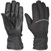 户外运动滑雪手套防风防水保暖手套 骑行摩托车手套防滑超细纤维带绒手套