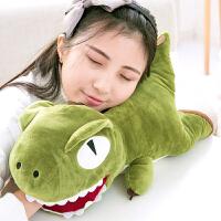 布娃娃可插手午睡枕靠垫暖手宝恐龙暖手捂筒抱枕公仔毛绒玩具
