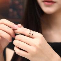 镀18k玫瑰金时尚迷宫情侣关节戒指指环女对戒尾戒钛钢饰品