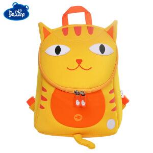 Delune可爱卡通背包1-5岁宝宝幼儿园背包,儿童防走失卡通小书包