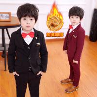 2宝宝9儿童西装套装男三件套1一3岁5秋冬款6英伦风10男童礼服加绒