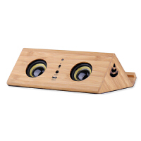 迷你木质魔术感应音箱平板电脑苹果复古无线共振手机带支架小音响 官方标配
