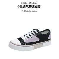 WARORWAR 法国新品138-CH-8283四季休闲平底舒适高品质女帆布鞋