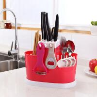 多功能筷子笼家用沥水塑料刀具架置物架厨房刀具收纳放刀具的架子