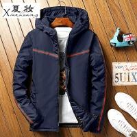 夏妆男士修身运动夹棉夹克外套冬季韩版学生休闲青少年加厚大码外衣男