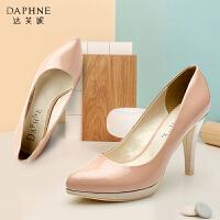 Daphne/达芙妮春季新款女单鞋细高跟防水台欧美单鞋女1015101011