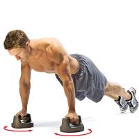 旋转型俯卧撑支架练臂肌体育用品防滑健身家用胸肌腹肌轮训练器材