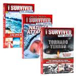 I Survived True Stories幸存者系列3册 英文原版Five Epic Disasters/Natu
