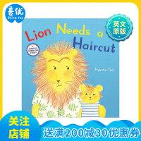 Lion Needs a Haircut 小狮子要理发 小孩剪头发恐惧 儿童绘本