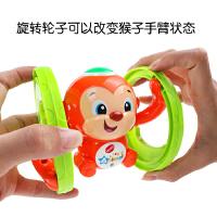 会跑的发条玩具带音乐灯光可翻滚 0-1-3岁宝宝上链上弦婴儿玩具