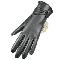 真皮手套女士山羊皮冬季加厚加绒触屏保暖冬季骑车新款
