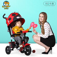 儿童三轮车 手推车 宝宝自行车卡通款免充气