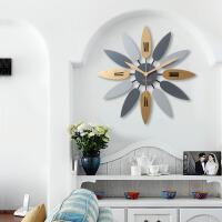 北欧风格客厅墙面装饰挂钟挂件家居实木墙饰壁饰简约墙上挂饰