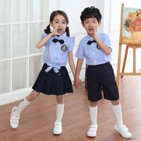 六一儿童演出服装女儿童节表演服背带裤夏季套装幼儿园