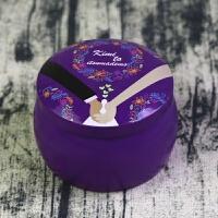 鼓形创意罐小铁盒茶叶罐 喜糖盒宝宝满月 糖果盒烘焙包装 口径7X高5厘米