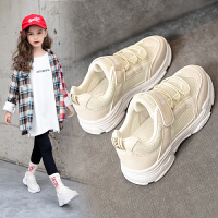 女童运动鞋2020春款新款时尚鞋子儿童透气网鞋小女孩白色童鞋