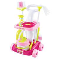 儿童过家家仿真清洁工具 打扫卫生扫把手推车套装 家庭小帮手