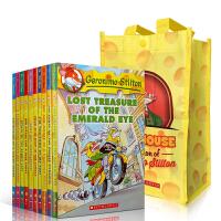 老鼠记者1-10册 Geronimo Stilton 英文原版儿童小说章节书 英文版全彩漫画儿童探险小说 少儿文学英语