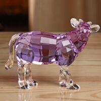 牛转乾坤水晶摆件牛十二生肖创意生日礼物工艺品装饰品摆件精致圣诞节礼物