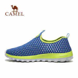 camel骆驼户外情侣休闲鞋 春夏低帮轻质回弹透气网鞋男女